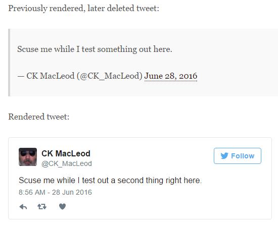 past_rendered and rendered tweets